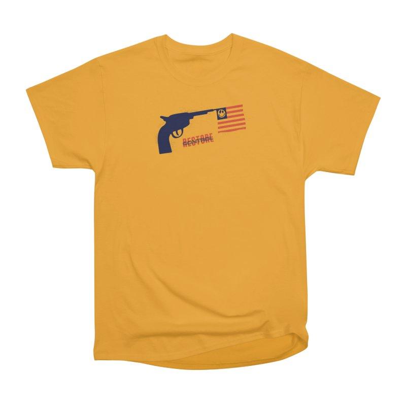 Restore Control Men's Heavyweight T-Shirt by Alleviate Apparel & Goods