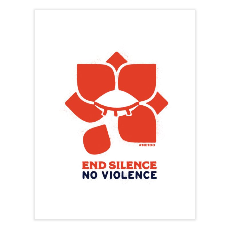 End Silence, No Violence Home Fine Art Print by Alleviate Apparel & Goods