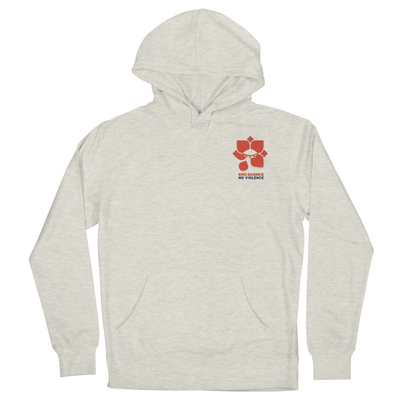 End Silence, No Violence Women's French Terry Pullover Hoody by Alleviate Apparel & Goods