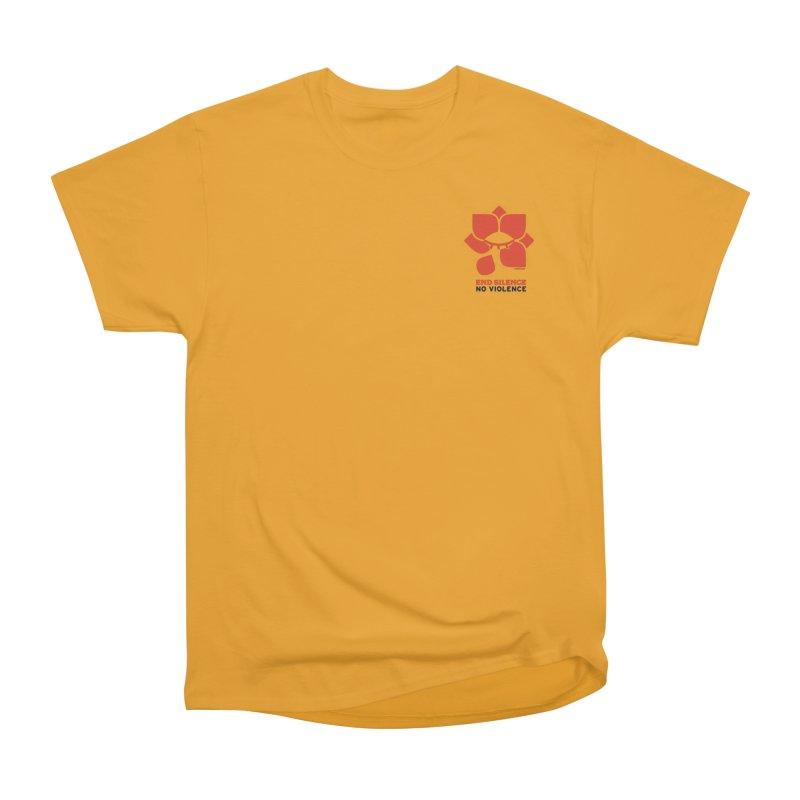 End Silence, No Violence Men's Heavyweight T-Shirt by Alleviate Apparel & Goods