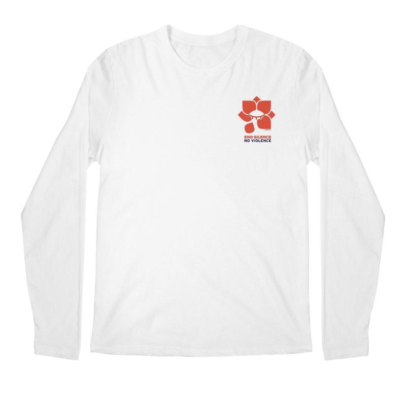 End Silence, No Violence Men's Regular Longsleeve T-Shirt by Alleviate Apparel & Goods