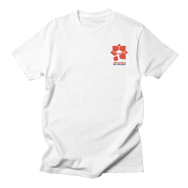 End Silence, No Violence Men's Regular T-Shirt by Alleviate Apparel & Goods