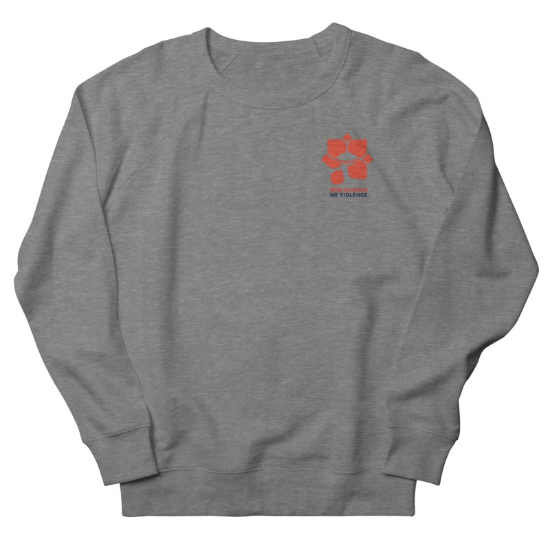 End Silence, No Violence Men's French Terry Sweatshirt by Alleviate Apparel & Goods