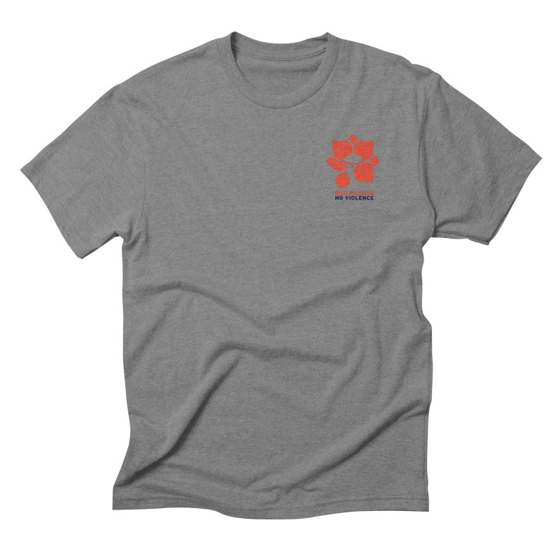 End Silence, No Violence Men's Triblend T-Shirt by Alleviate Apparel & Goods