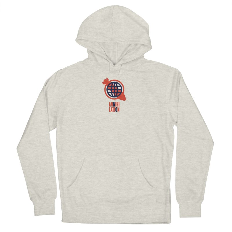 No Annihilation Men's French Terry Pullover Hoody by Alleviate Apparel & Goods