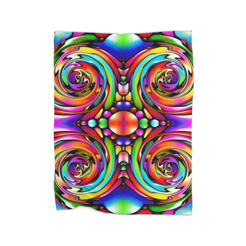 Psychedelia Home Blanket by Allison Low Art