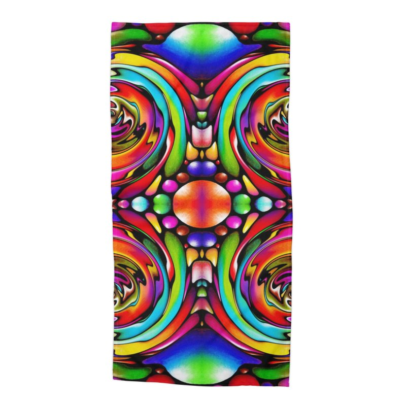 Psychedelia Accessories Beach Towel by Allison Low Art