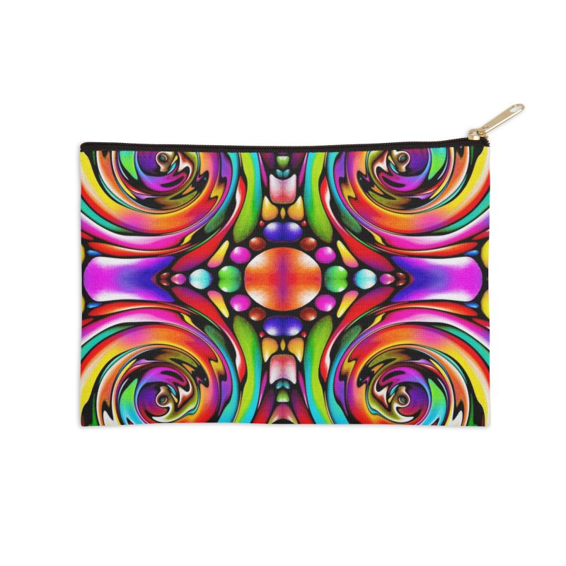 Psychedelia Accessories Zip Pouch by Allison Low Art