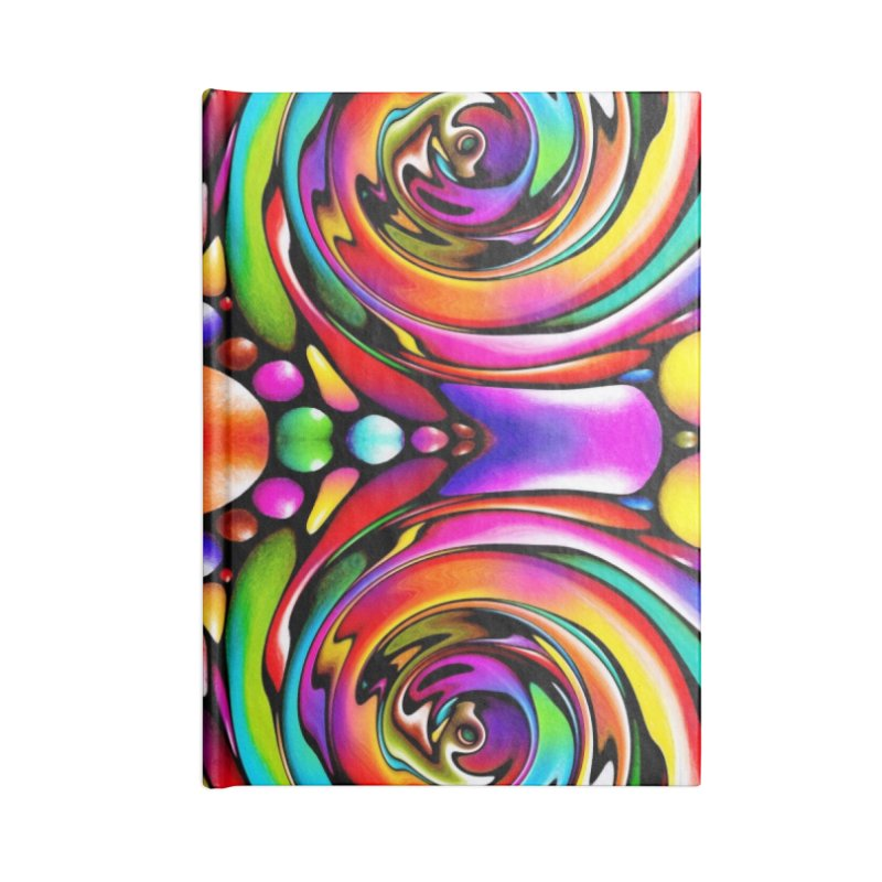 Psychedelia Accessories Notebook by Allison Low Art