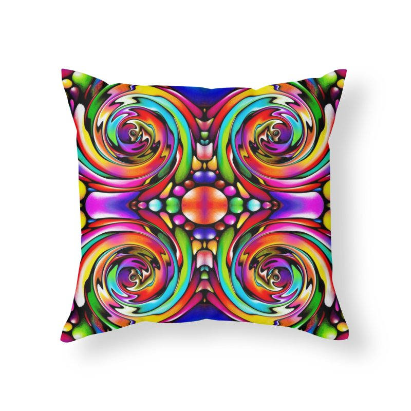 Psychedelia Home Throw Pillow by Allison Low Art