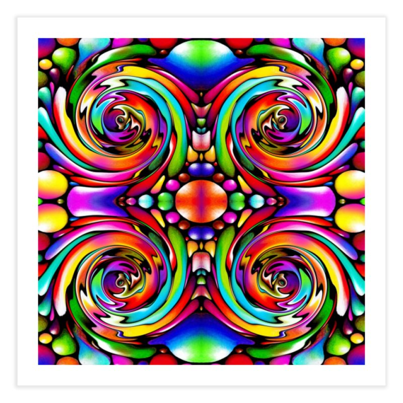 Psychedelia Home Fine Art Print by Allison Low Art