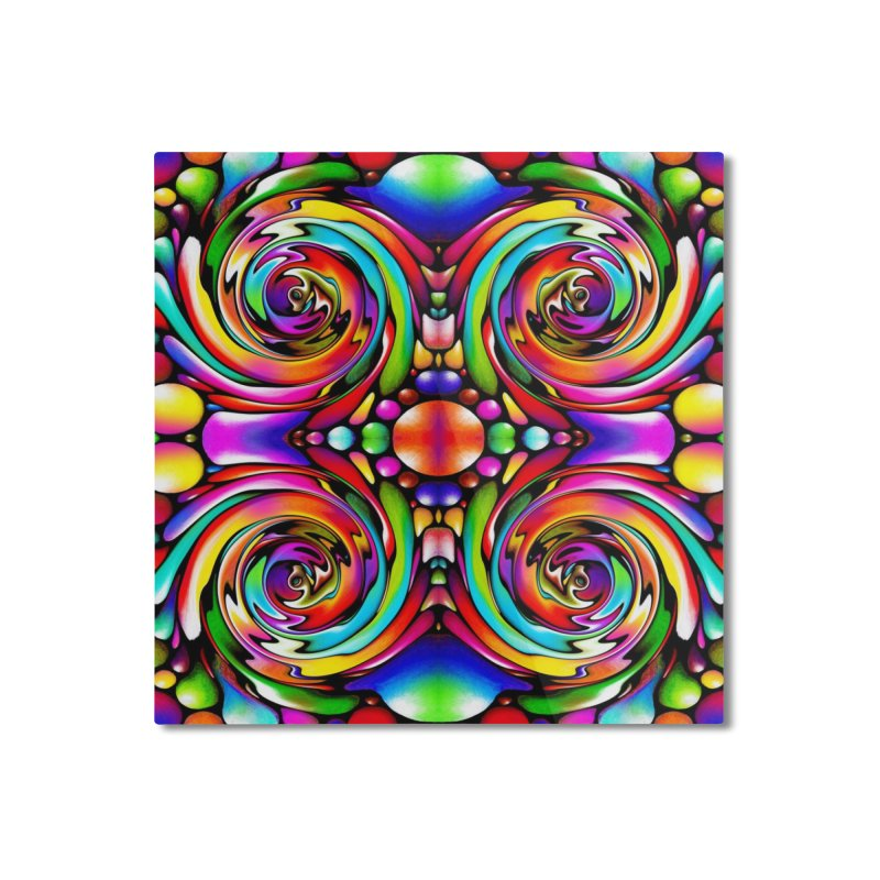 Psychedelia Home Mounted Aluminum Print by Allison Low Art
