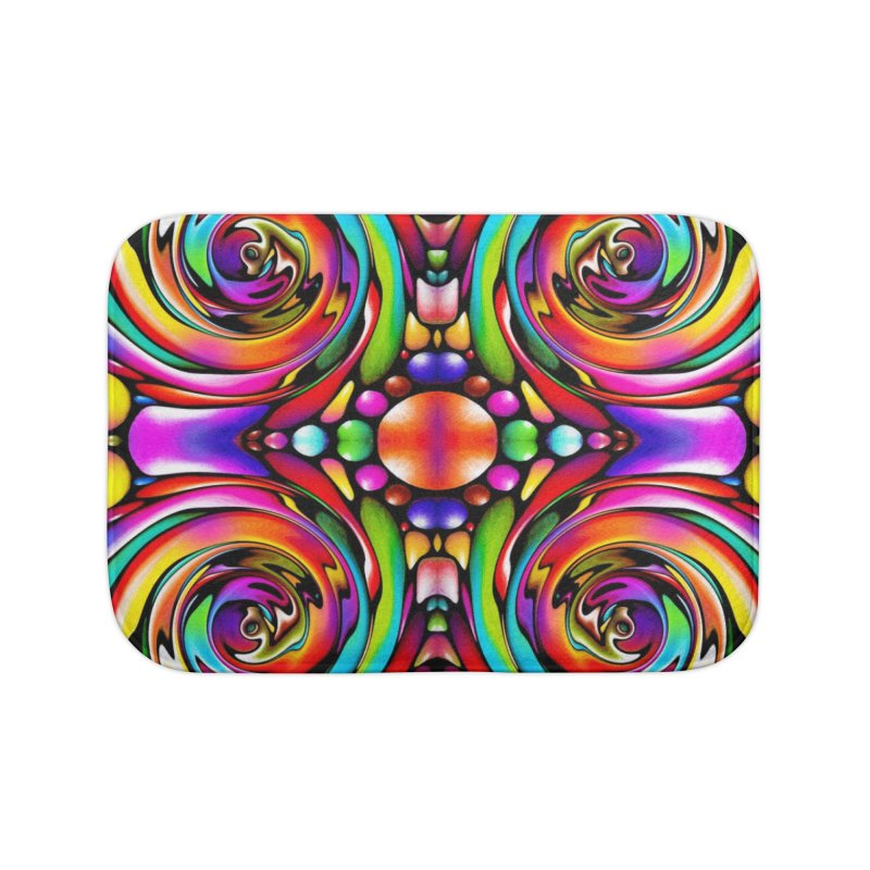 Psychedelia Home Bath Mat by Allison Low Art