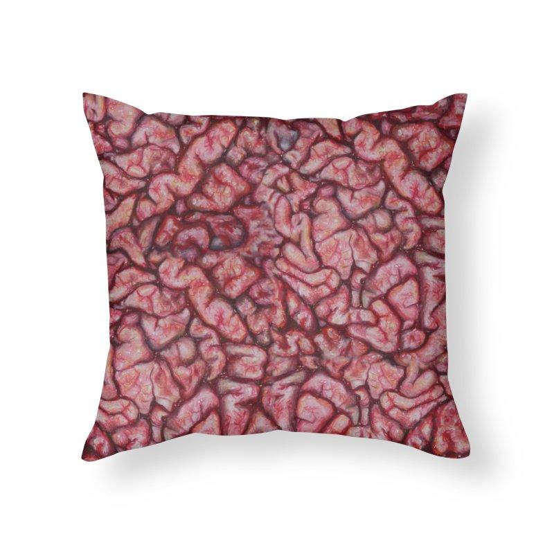 Brainz Home Throw Pillow by Allison Low Art