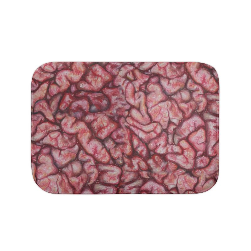 Brainz Home Bath Mat by Allison Low Art