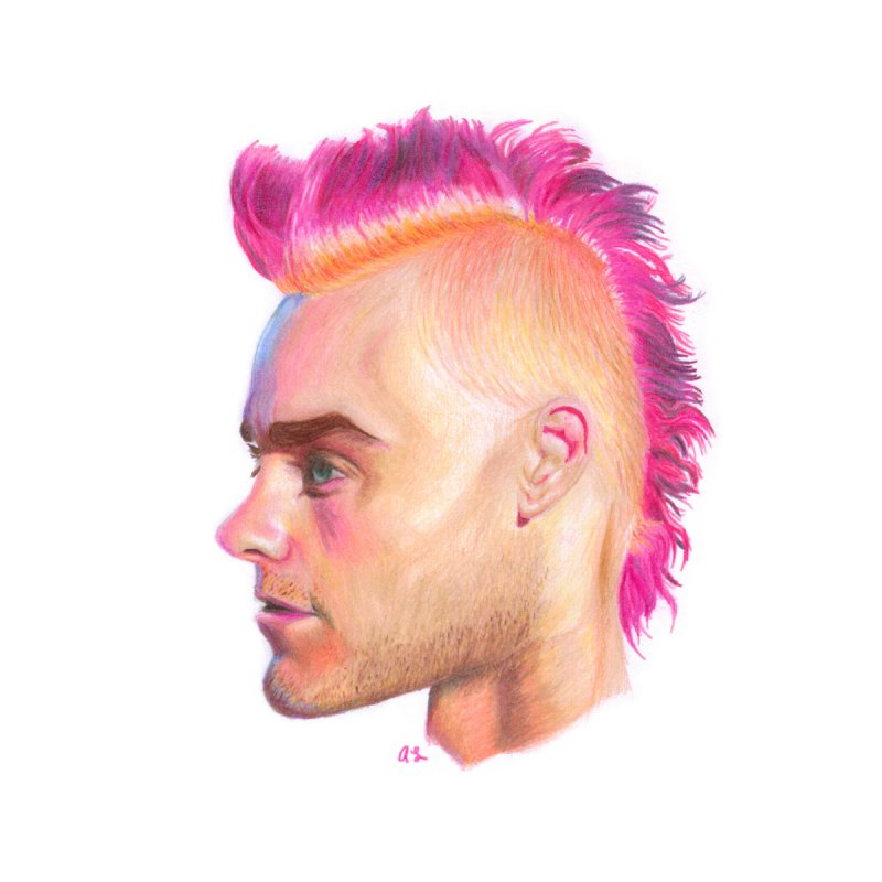 Pink Leto by Allison Low Art
