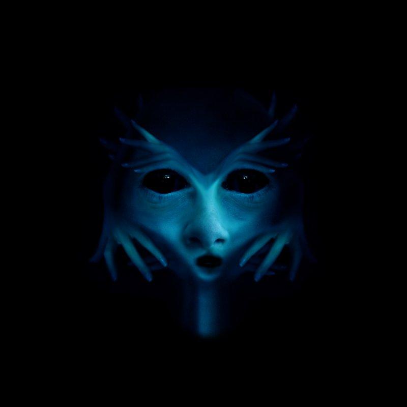 Blue Alien by Allison Low Art
