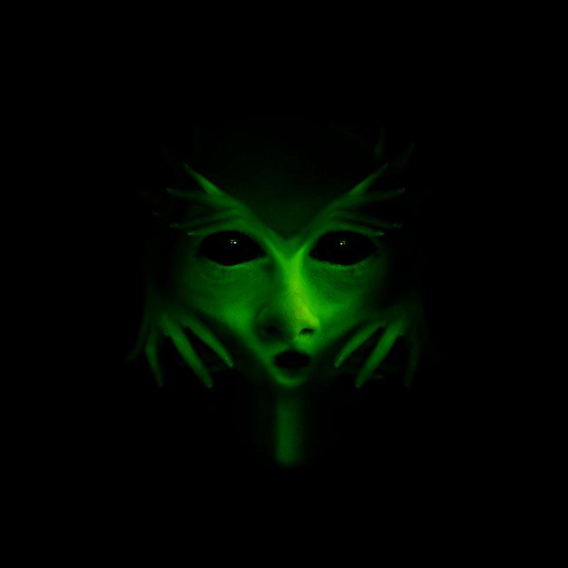 Green Alien by Allison Low Art