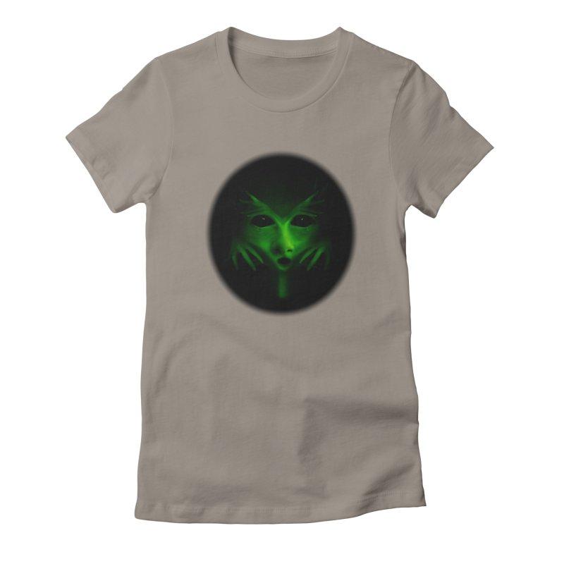 Green Alien Women's Lounge Pants by Allison Low Art