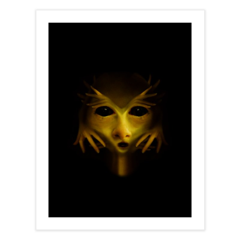 Yellow Alien Home Fine Art Print by Allison Low Art