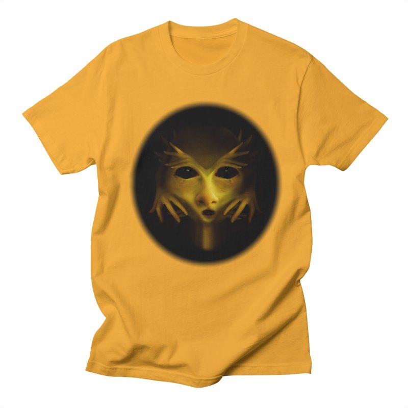 Yellow Alien Men's T-Shirt by Allison Low Art