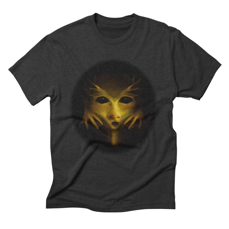 Yellow Alien Men's Triblend T-Shirt by Allison Low Art