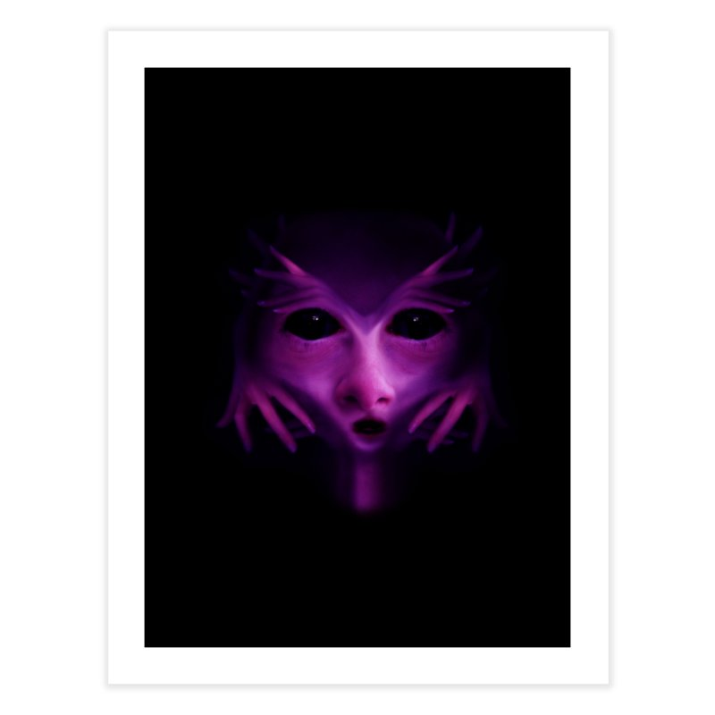 Violet Alien Home Fine Art Print by Allison Low Art