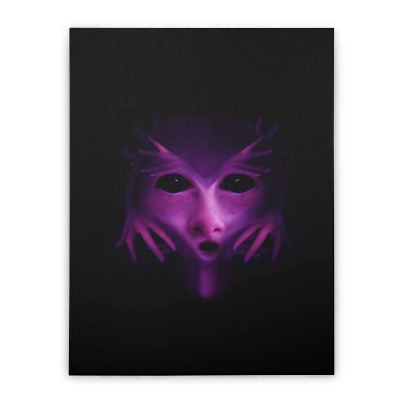 Violet Alien Home Stretched Canvas by Allison Low Art