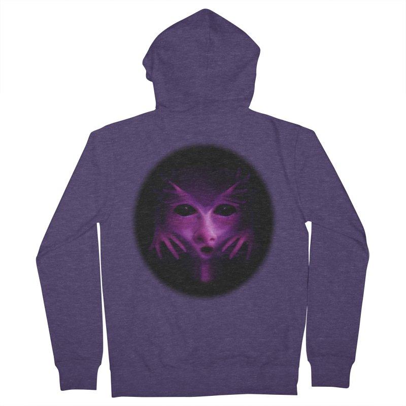 Violet Alien Men's Zip-Up Hoody by Allison Low Art