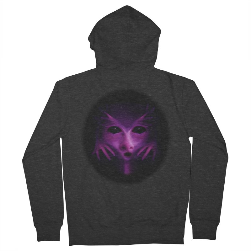 Violet Alien Men's Zip-Up Hoody by Allison Low Art