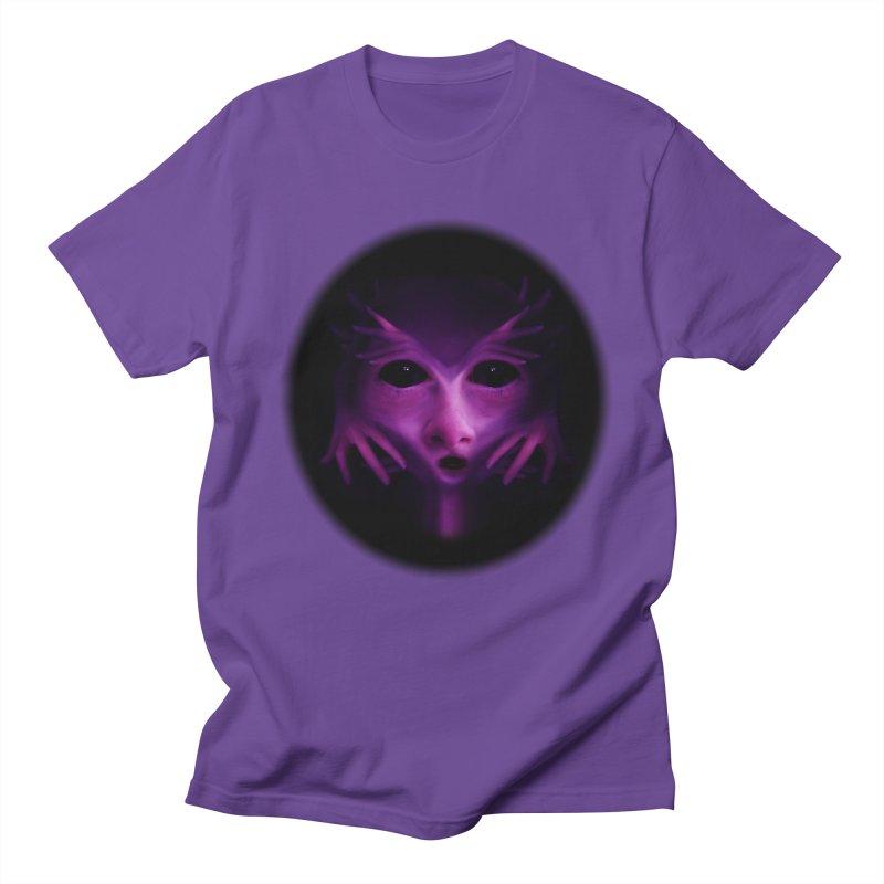 Violet Alien Men's T-Shirt by Allison Low Art