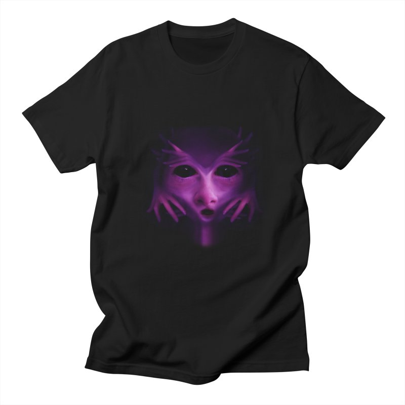 Violet Alien Men's Regular T-Shirt by Allison Low Art