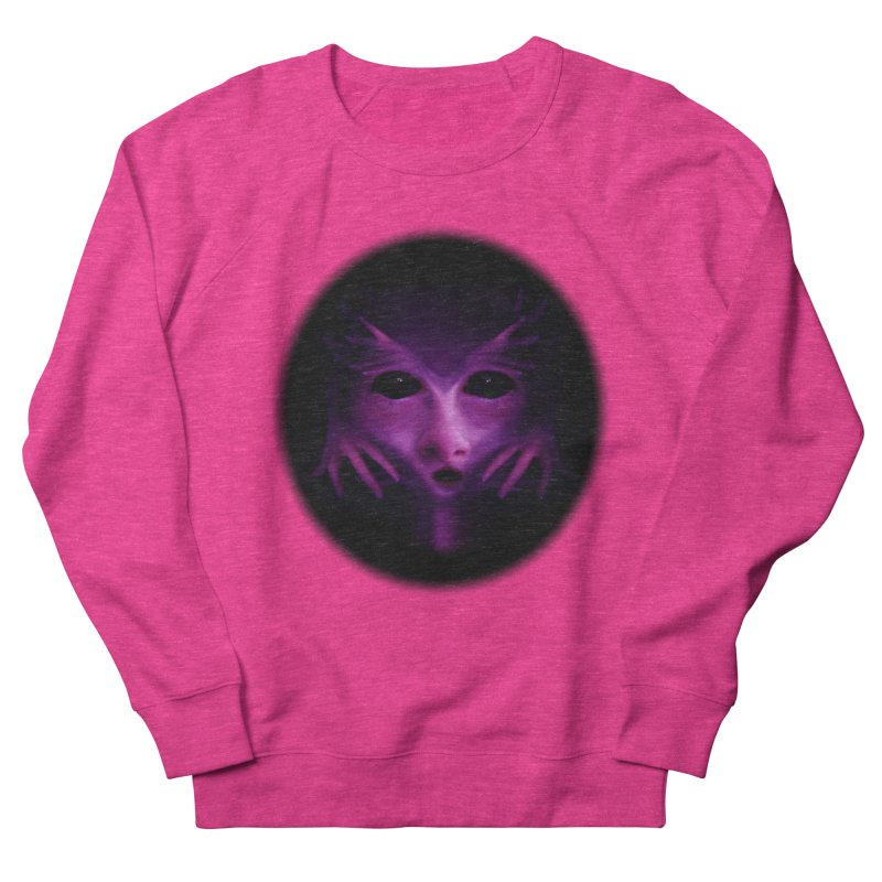 Violet Alien Women's French Terry Sweatshirt by Allison Low Art