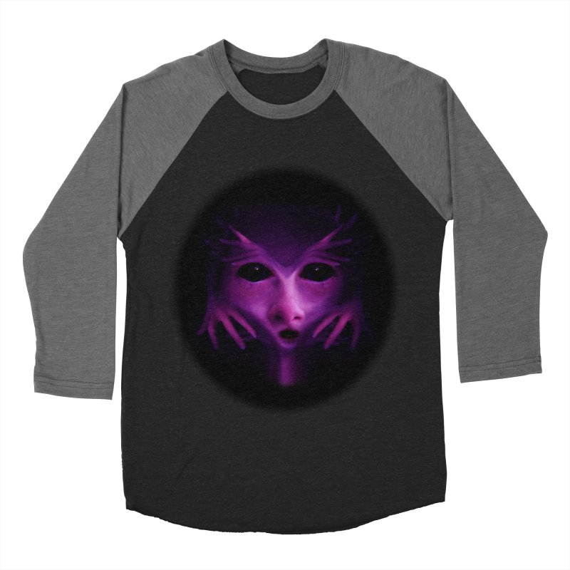 Violet Alien Women's Baseball Triblend T-Shirt by Allison Low Art