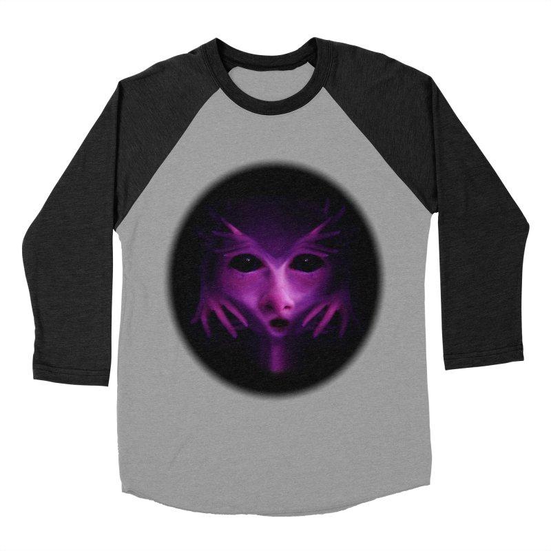 Violet Alien Women's Baseball Triblend T-Shirt by Allison Low Art