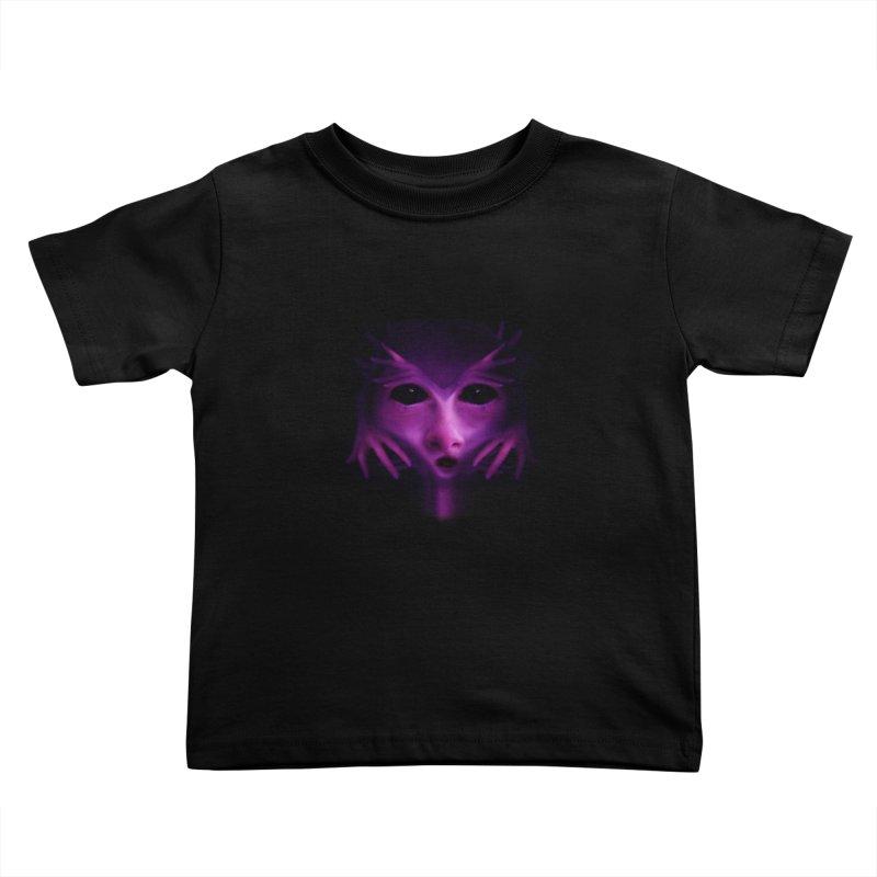 Violet Alien Kids Toddler T-Shirt by Allison Low Art