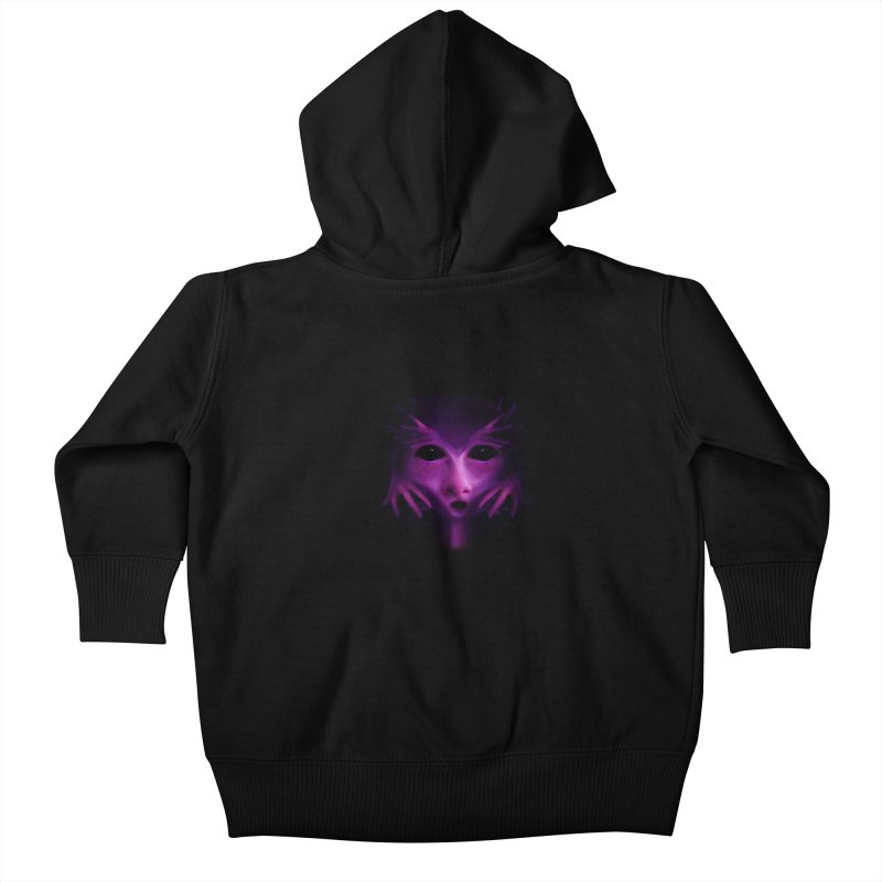 Violet Alien Kids Baby Zip-Up Hoody by Allison Low Art