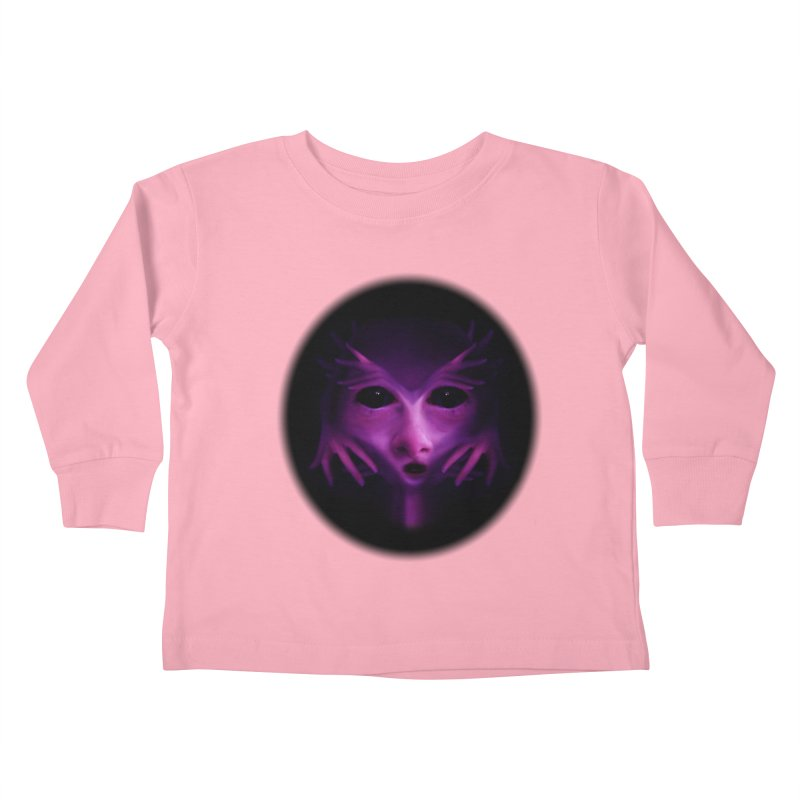 Violet Alien Kids Toddler Longsleeve T-Shirt by Allison Low Art