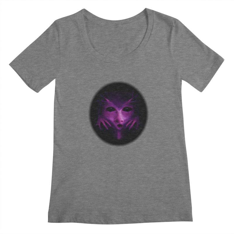 Violet Alien Women's Scoopneck by Allison Low Art