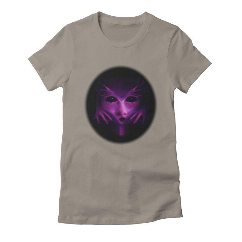 Violet Alien Women's Fitted T-Shirt by Allison Low Art
