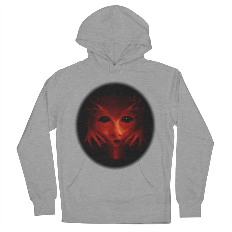 Alien Devil Women's French Terry Pullover Hoody by Allison Low Art