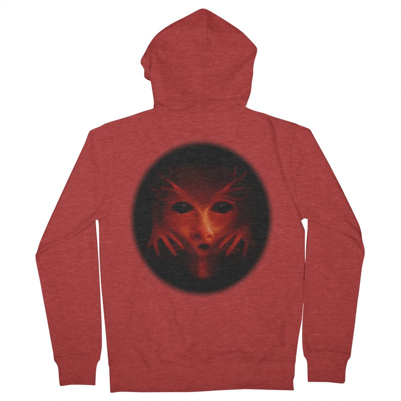 Alien Devil  Men's Zip-Up Hoody by Allison Low Art