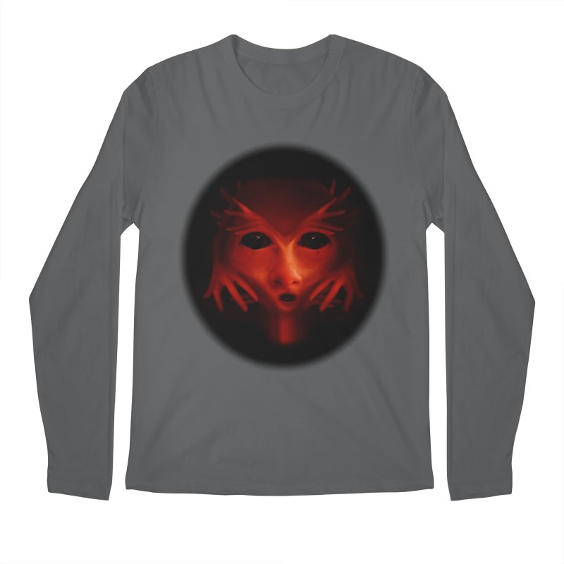 Alien Devil Men's Regular Longsleeve T-Shirt by Allison Low Art