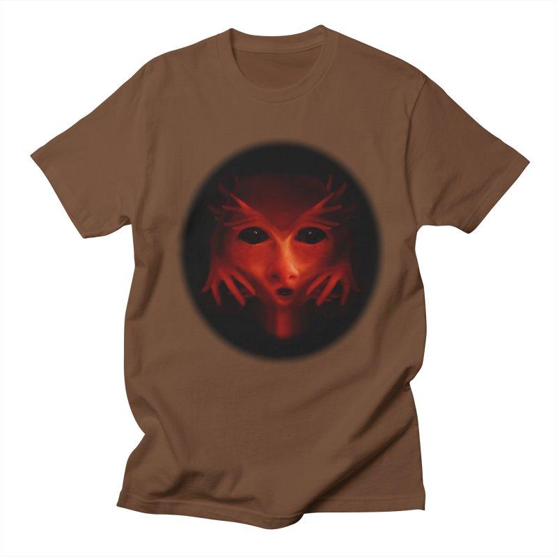 Alien Devil Men's Regular T-Shirt by Allison Low Art