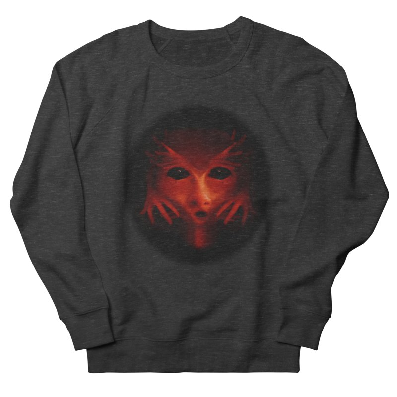 Alien Devil Men's French Terry Sweatshirt by Allison Low Art