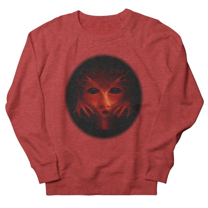 Alien Devil Men's French Terry Sweatshirt by Allison Low Art