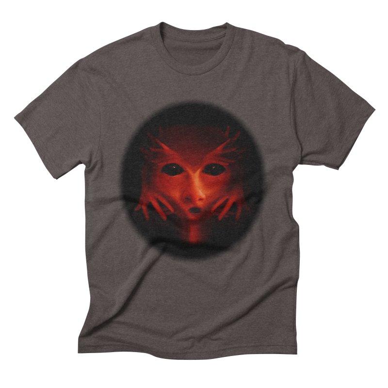 Alien Devil Men's Triblend T-Shirt by Allison Low Art
