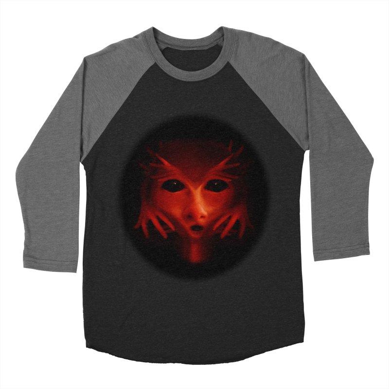 Alien Devil  Women's Baseball Triblend T-Shirt by Allison Low Art