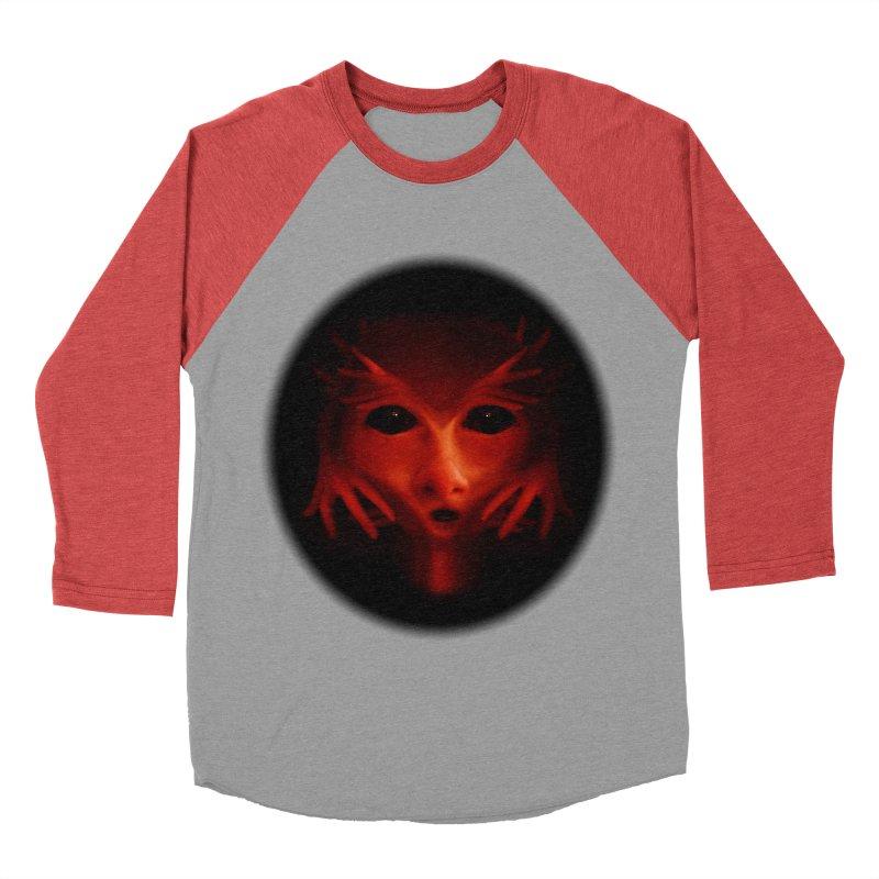Alien Devil  Men's Baseball Triblend T-Shirt by Allison Low Art