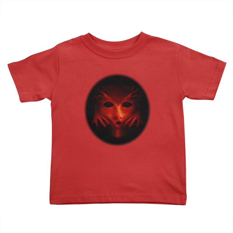 Alien Devil Kids Toddler T-Shirt by Allison Low Art